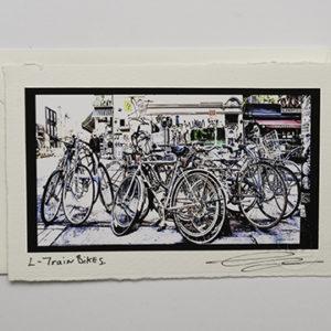 L Train Bikes (Card)