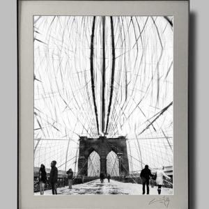 On Brooklyn Bridge (16×20)