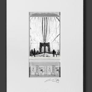 On Brooklyn Bridge (8×12)