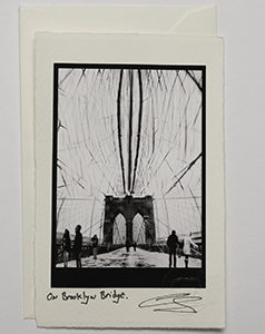 On Brooklyn Bridge (Card)